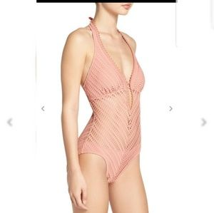 Robin Piccone Sophia Plunge One Piece Swimsuit NEW